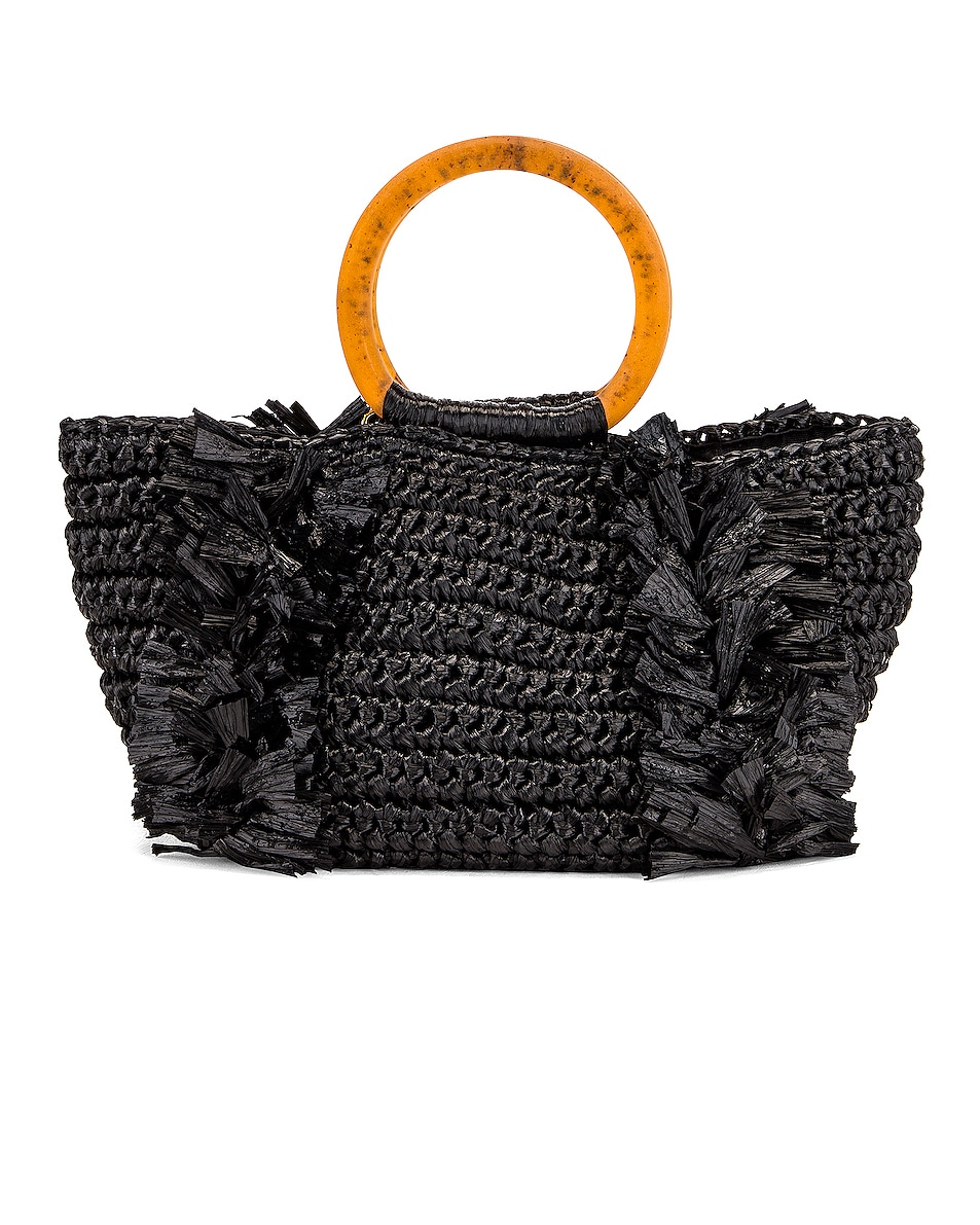 Image 3 of Carolina Santo Domingo Corallina Bag in Black & Amber