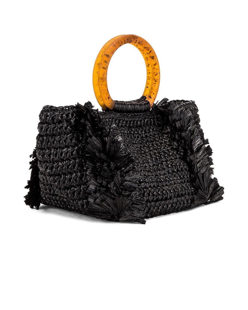 Image 4 of Carolina Santo Domingo Corallina Bag in Black & Amber