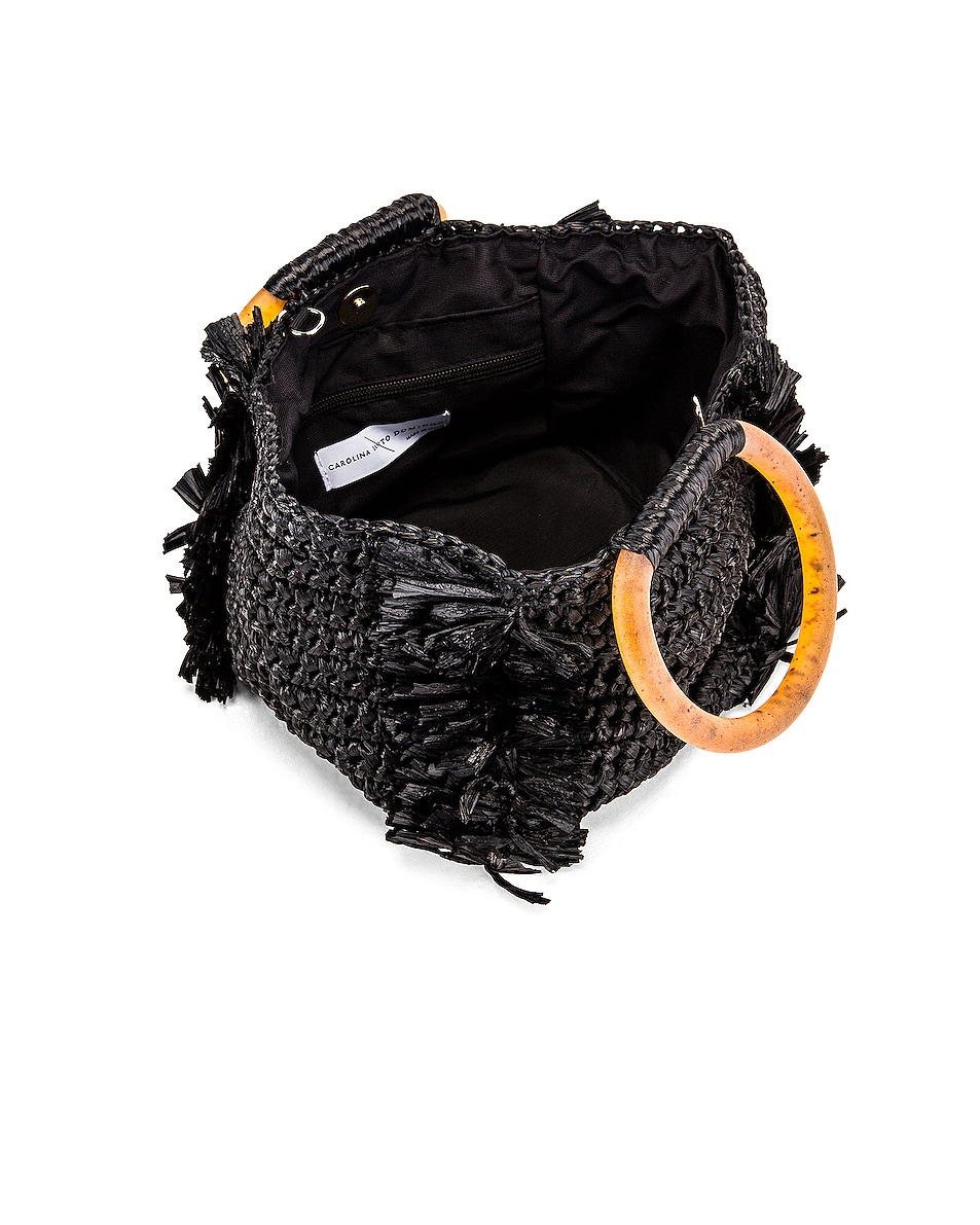 Image 5 of Carolina Santo Domingo Corallina Bag in Black & Amber
