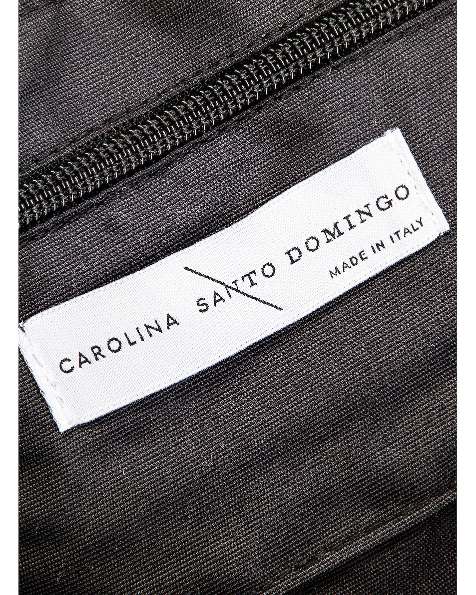 Image 7 of Carolina Santo Domingo Corallina Bag in Black & Amber