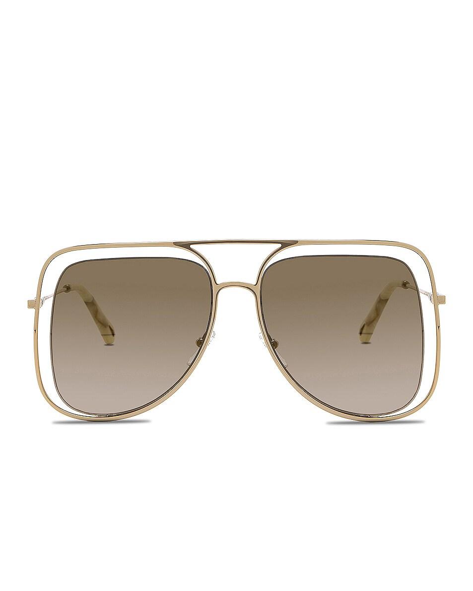 Image 1 of Chloe Poppy Sunglasses in Gold & Brown