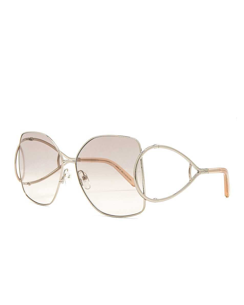 Chloe Jackson Sunglasses Gold & Peach 85%OFF
