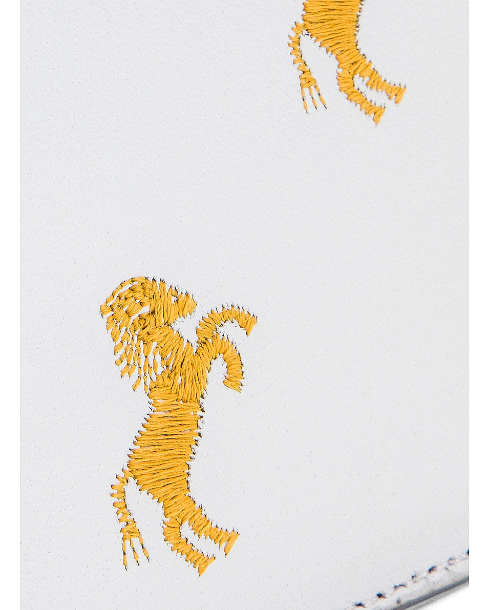Image 6 of Chloe Signature Embroidered Horses Zip Card Case in Light Cloud
