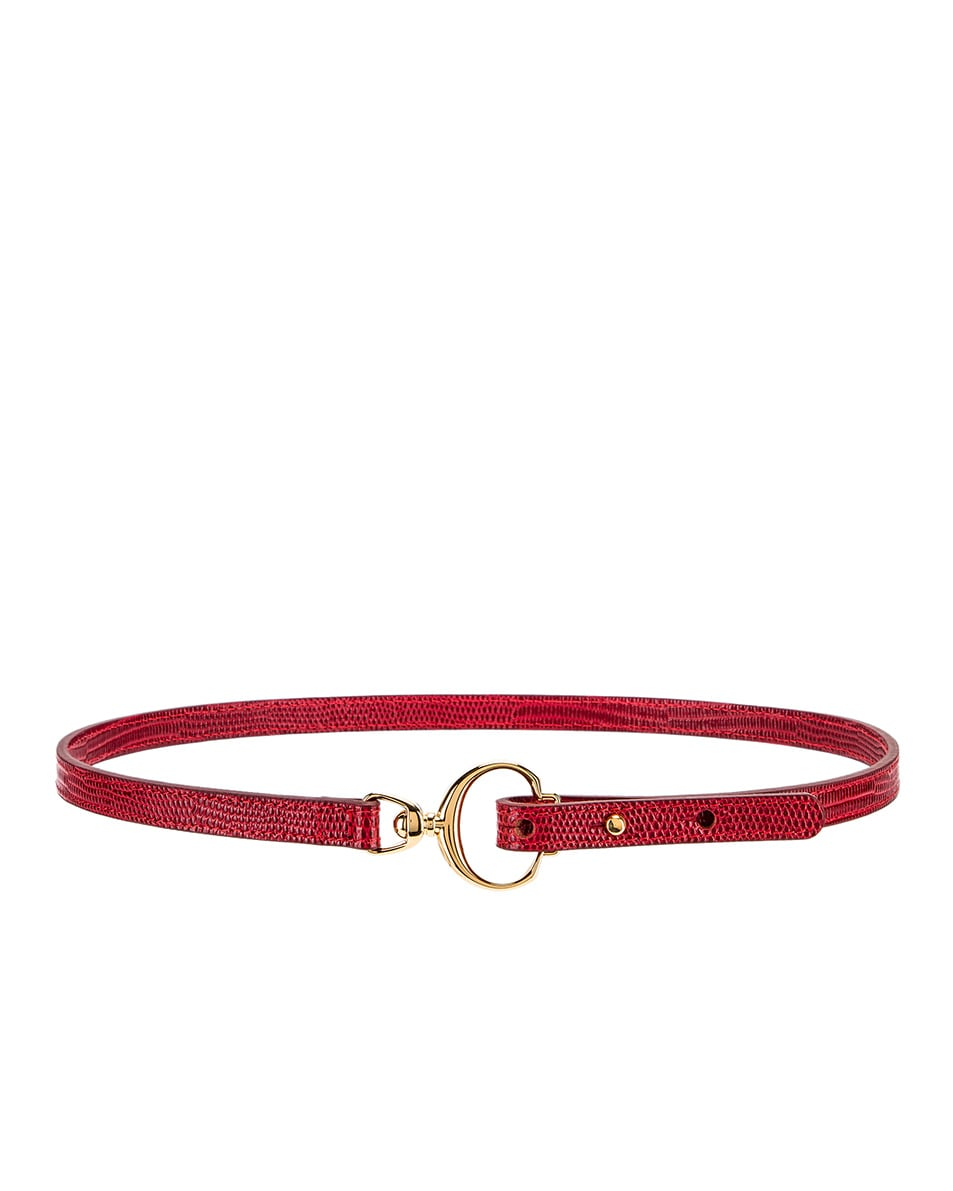 Image 2 of Chloe C Skinny Belt in Dusky Red