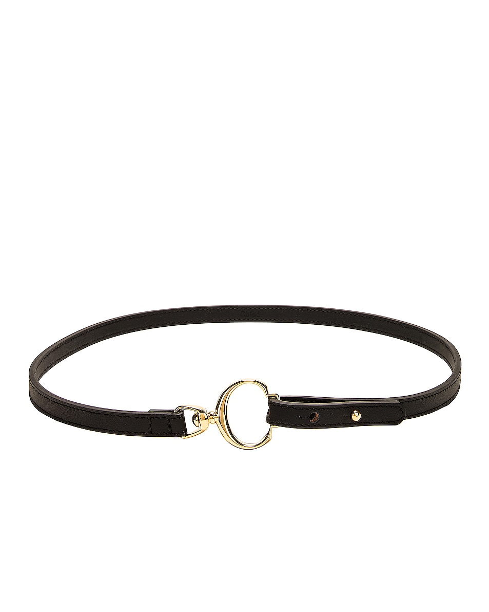 Image 1 of Chloe Leather C Belt in Black