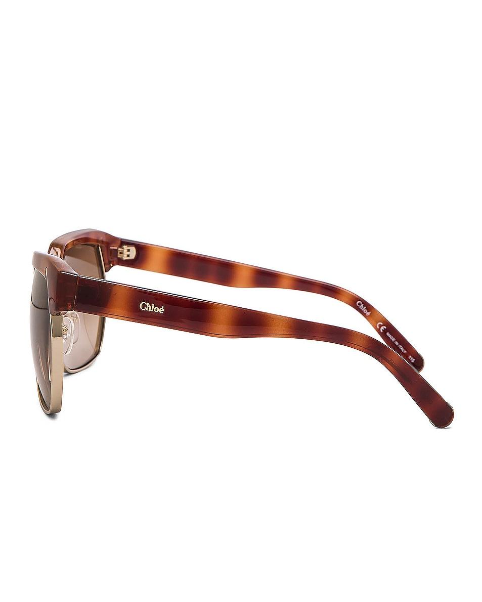 Image 3 of Chloe Dafne Sunglasses in Light Havana