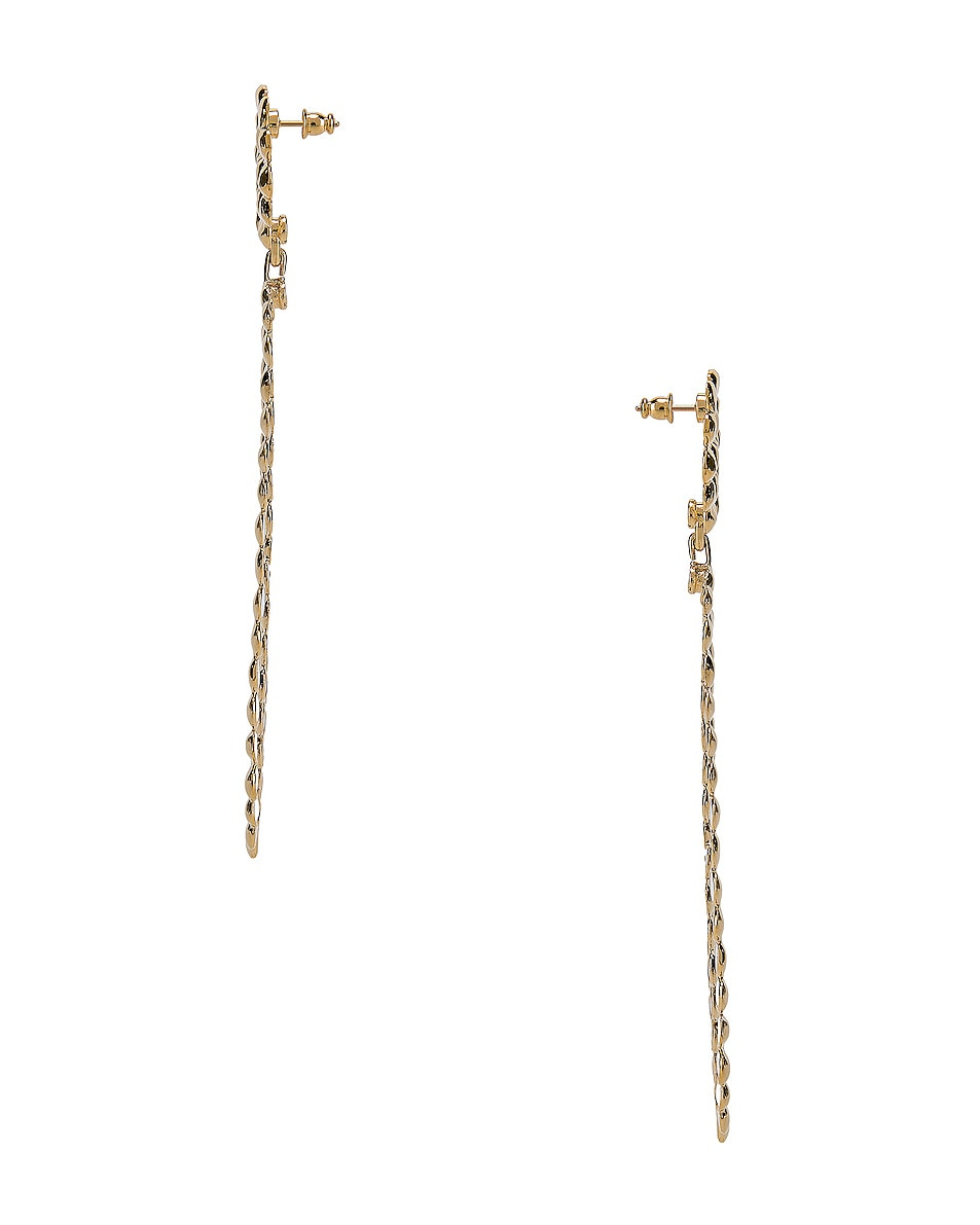 Image 3 of Chloe Brass Earrings in Gold