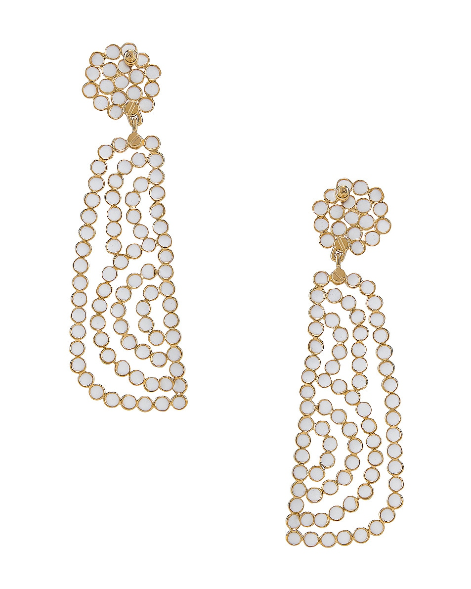 Image 4 of Chloe Brass Earrings in Gold