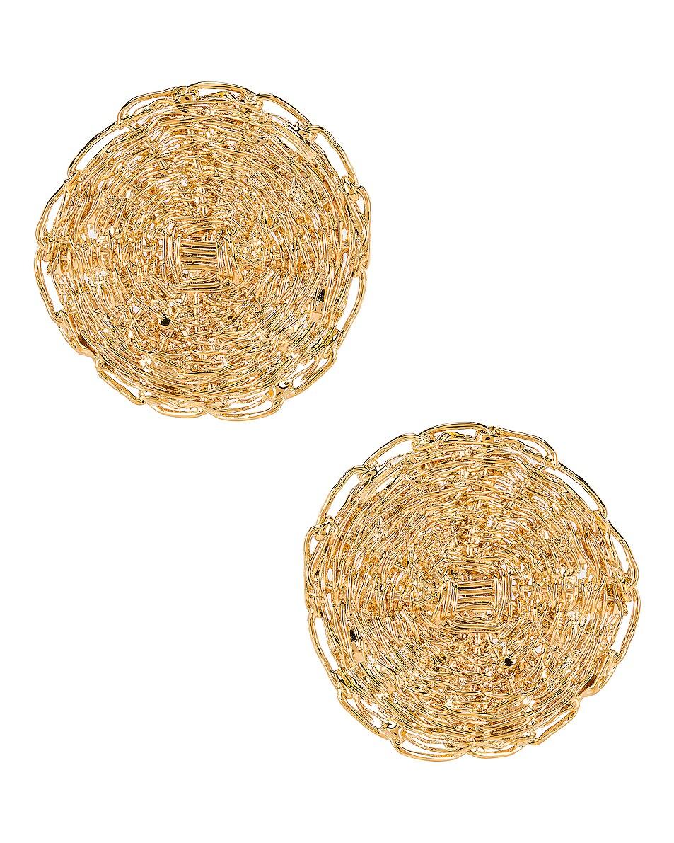 Image 1 of Chloe Circle Earrings in Gold