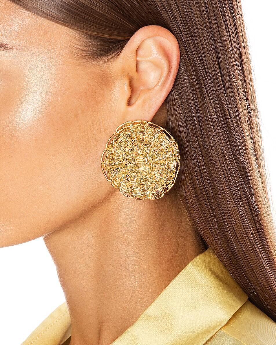 Image 2 of Chloe Circle Earrings in Gold