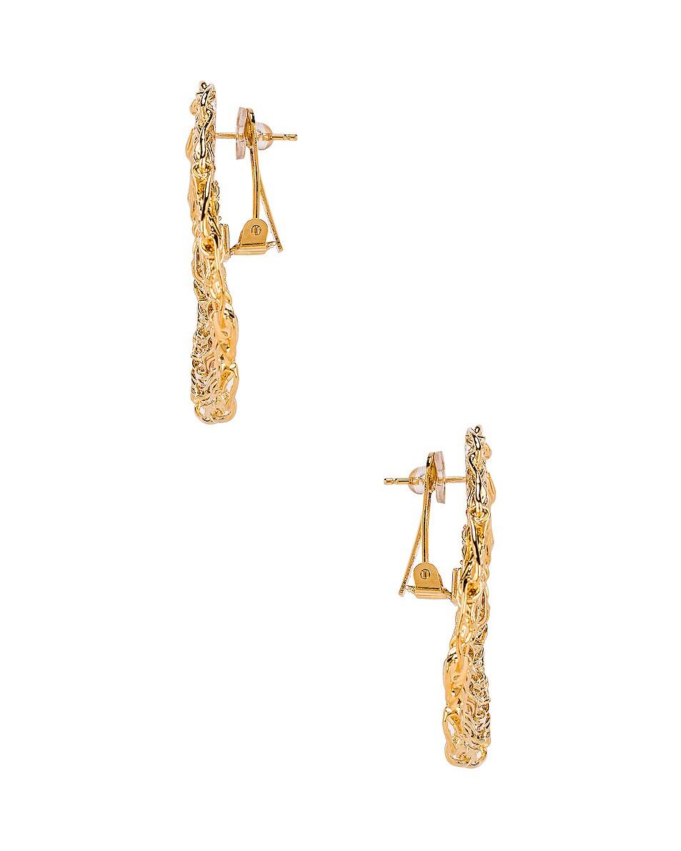 Image 3 of Chloe Circle Earrings in Gold
