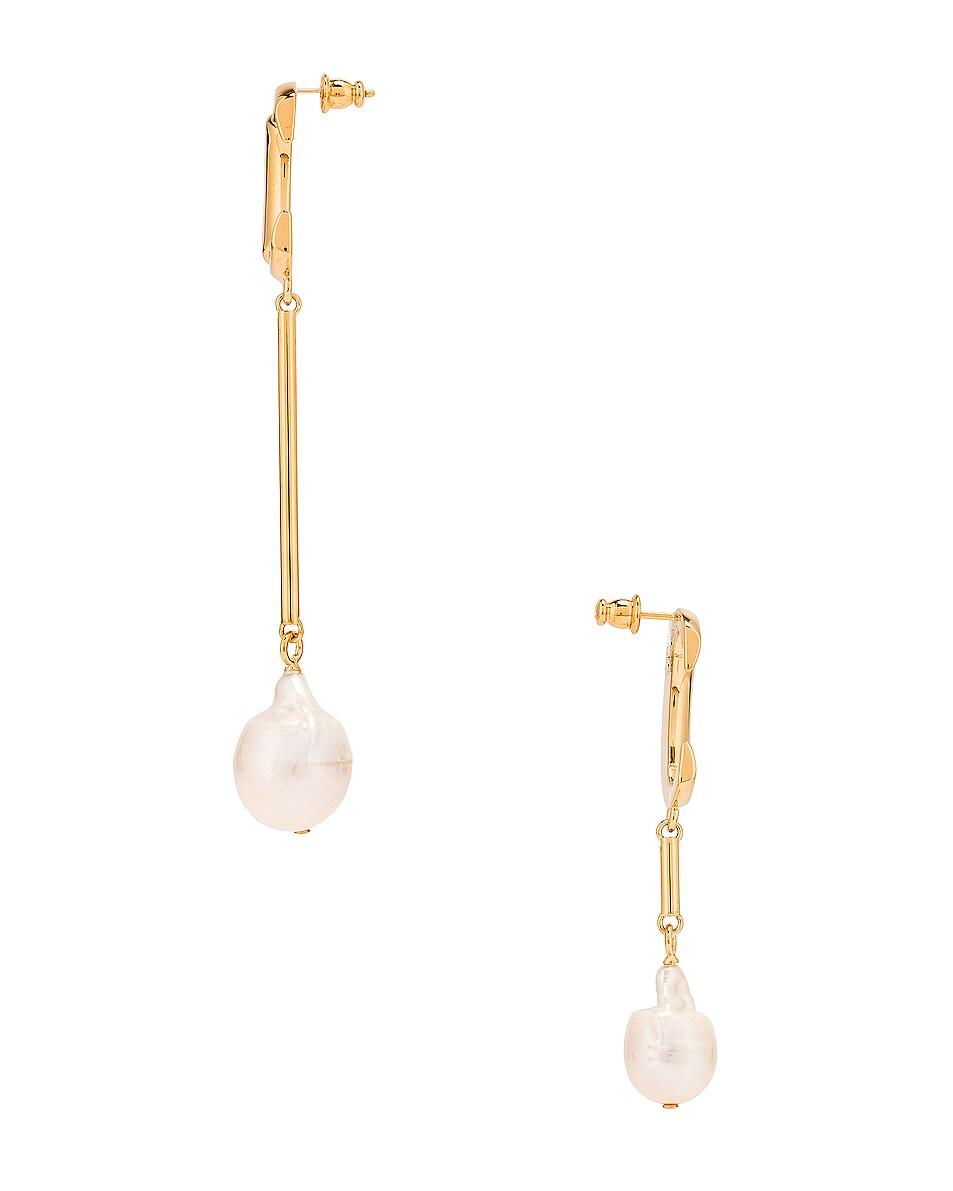 Image 3 of Chloe C Drop Earrings in Pearl