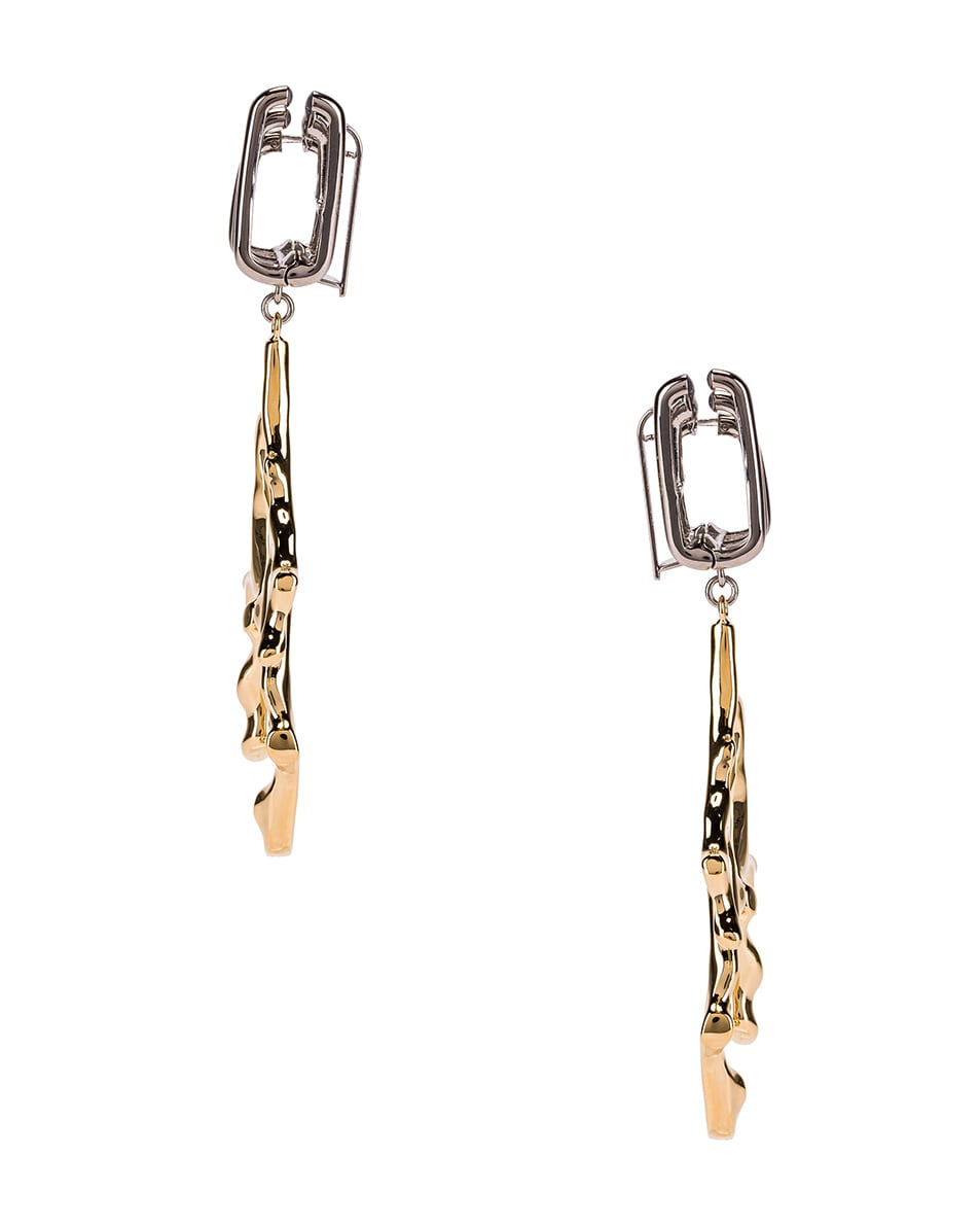 Image 3 of Chloe Branch Earrings in Gold & Palladium