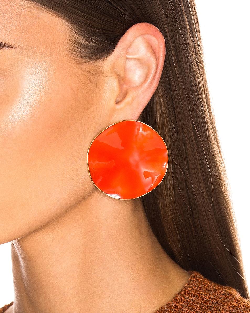 Image 2 of Chloe Bright Earrings in Tangerine