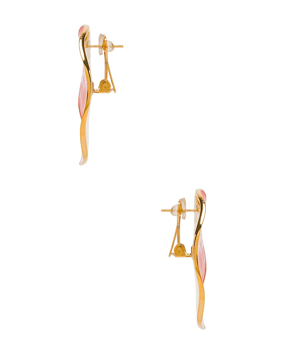Image 3 of Chloe Bright Earrings in Tangerine