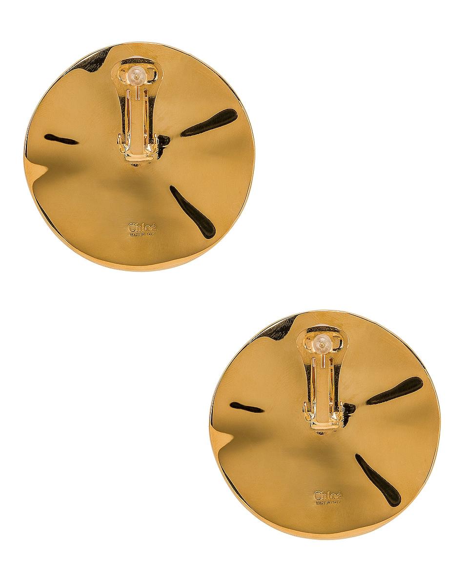 Image 4 of Chloe Bright Earrings in Tangerine