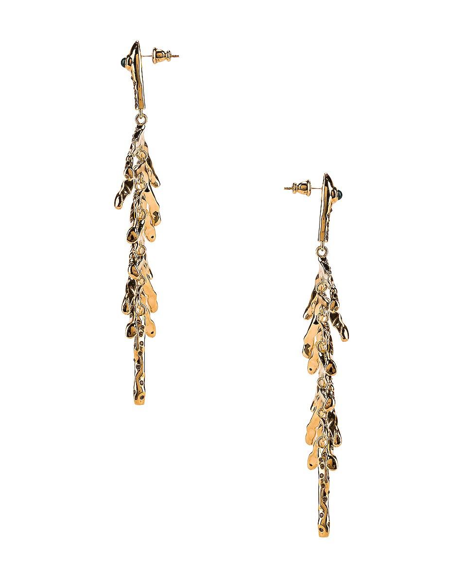 Image 3 of Chloe Fish Bone Earrings in Gold