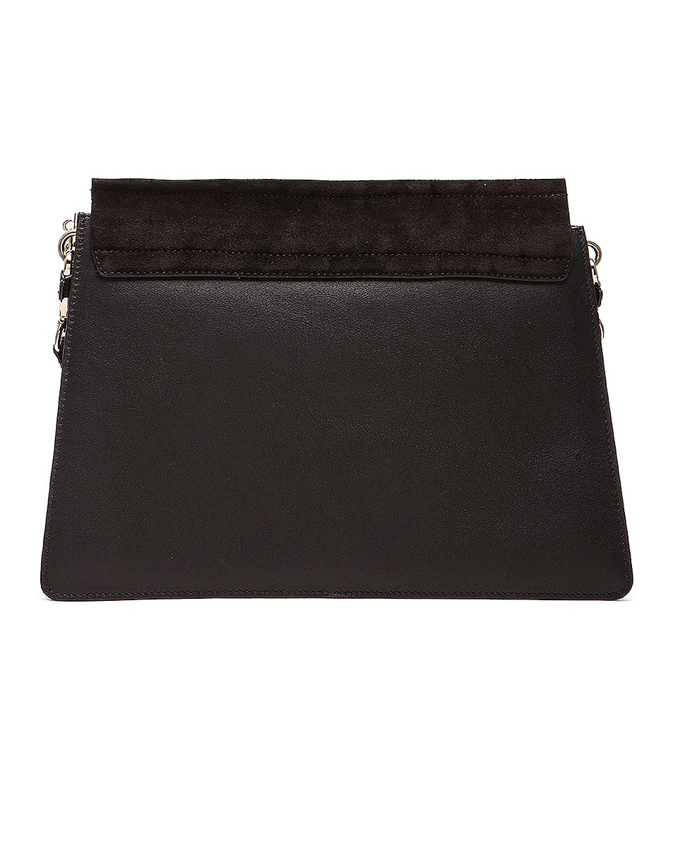 Image 3 of Chloe Medium Faye Suede & Calfskin Shoulder Bag in Black