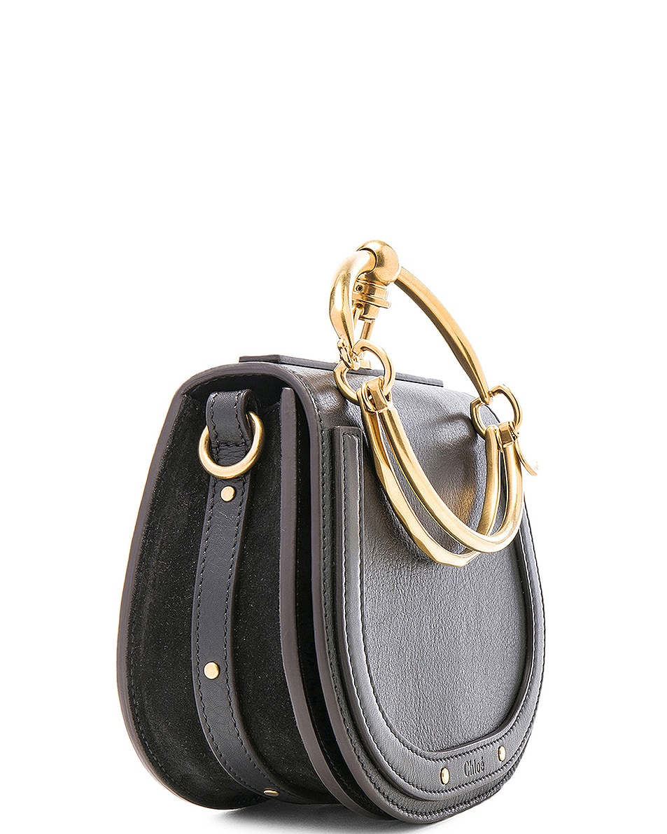 Image 4 of Chloe Small Nile Bracelet Bag Calfskin & Suede in Black