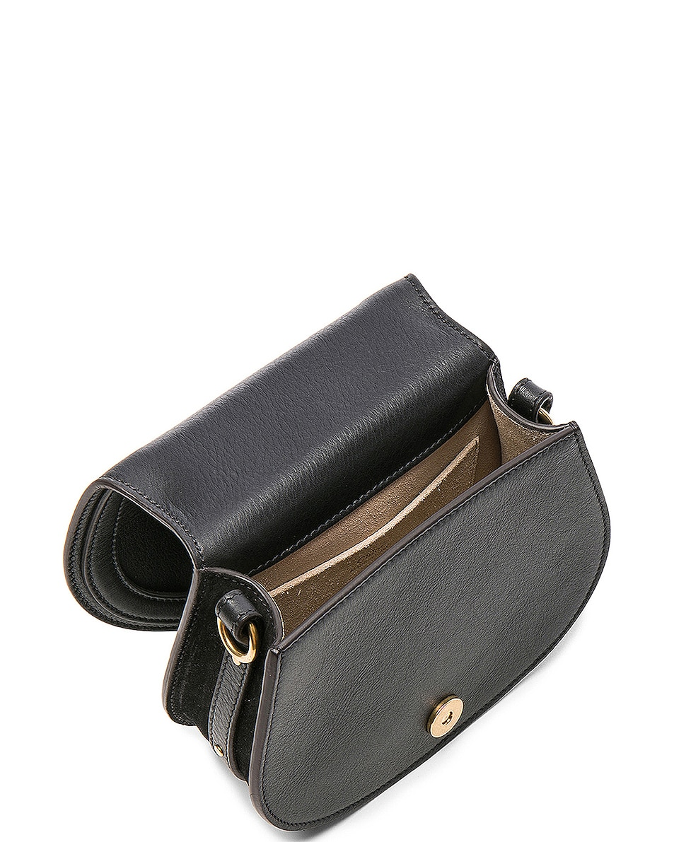 Image 5 of Chloe Small Nile Bracelet Bag Calfskin & Suede in Black