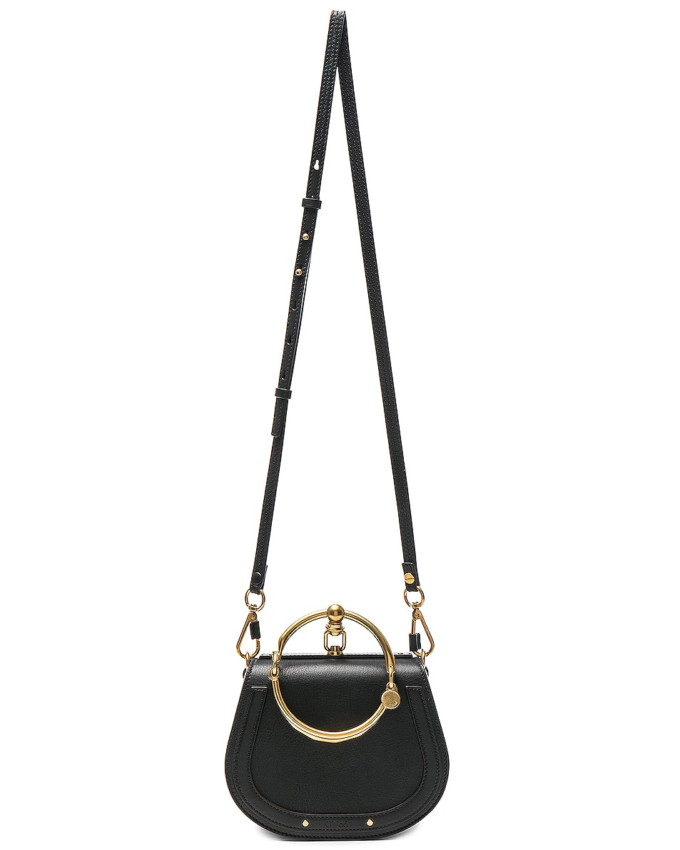 Image 6 of Chloe Small Nile Bracelet Bag Calfskin & Suede in Black