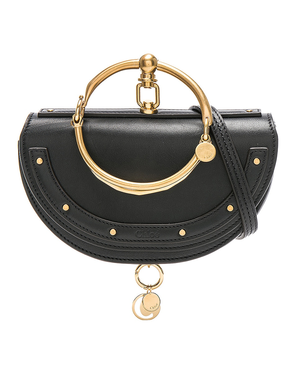2749d8d7b6397 Image 1 of Chloe Small Nile Leather Minaudiere in Black