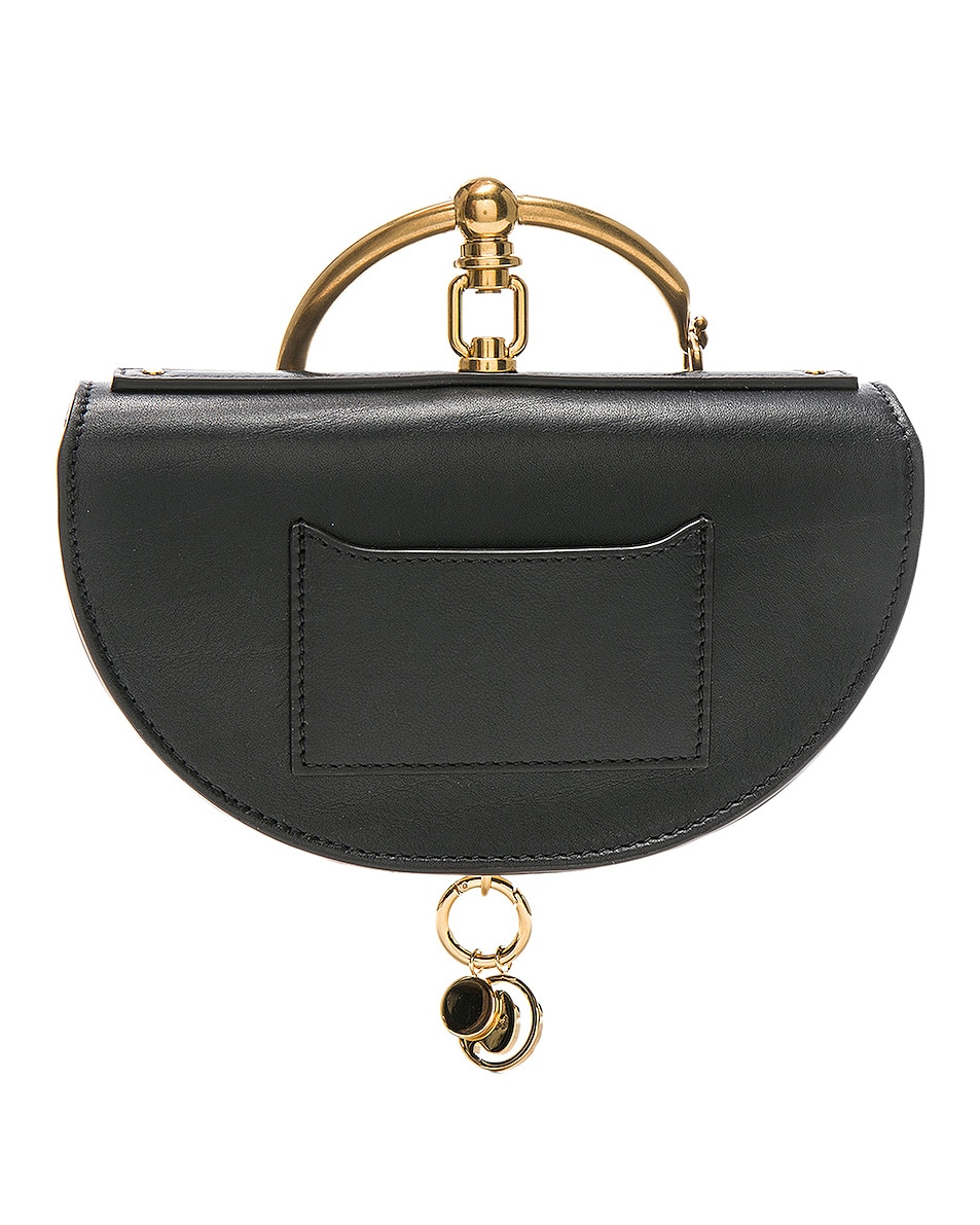 Image 3 of Chloe Small Nile Leather Minaudiere in Black