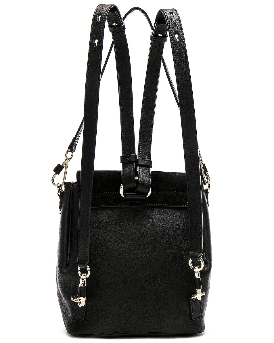 Image 3 of Chloe Small Faye Backpack Suede & Calfskin in Black