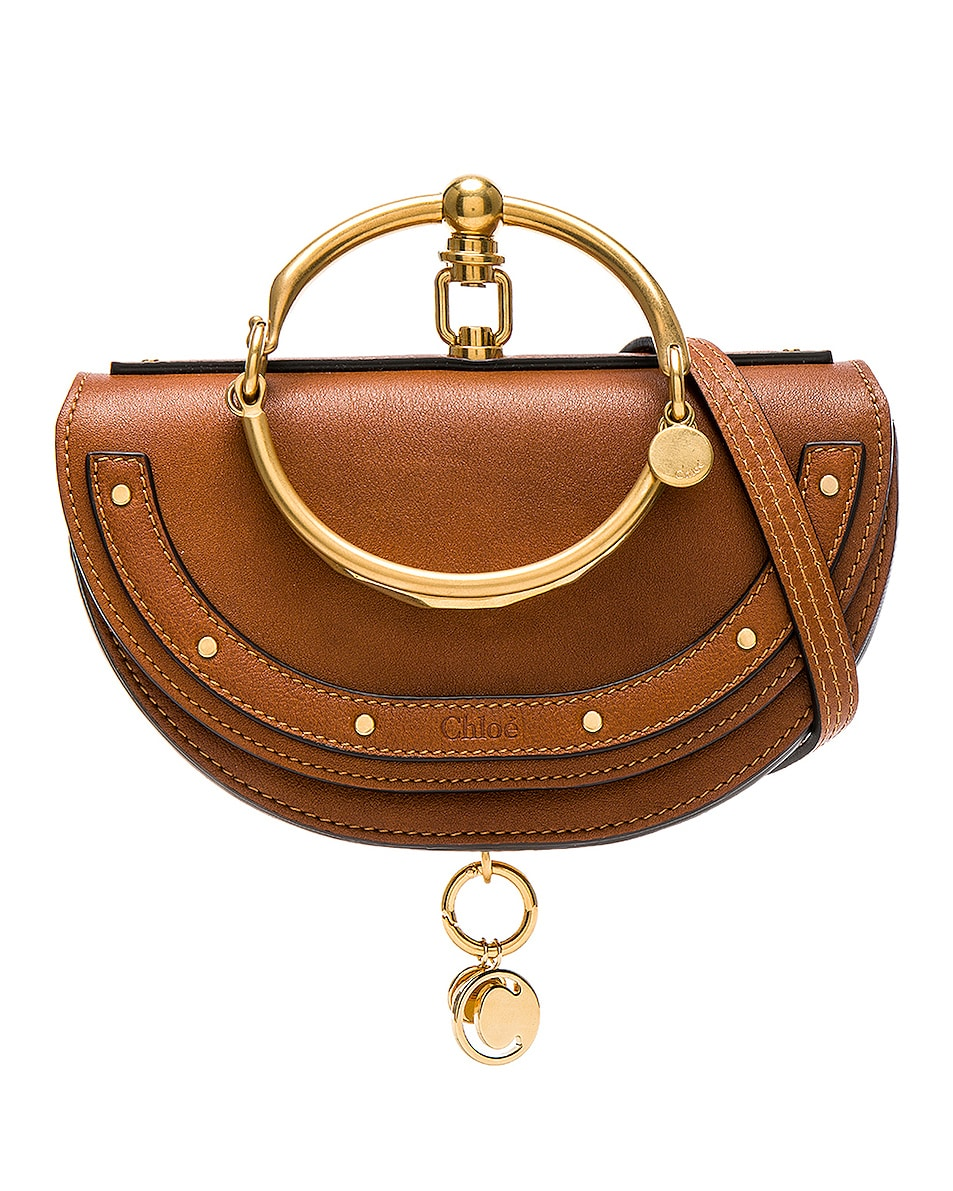 Image 1 of Chloe Small Nile Leather Minaudiere in Caramel
