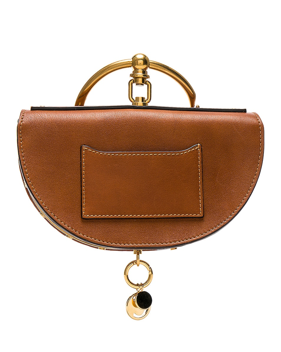 Image 3 of Chloe Small Nile Leather Minaudiere in Caramel