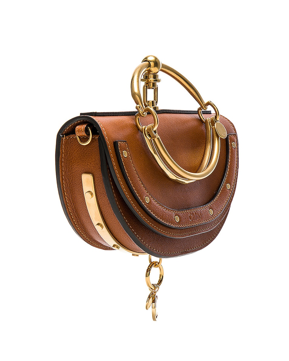 Image 4 of Chloe Small Nile Leather Minaudiere in Caramel