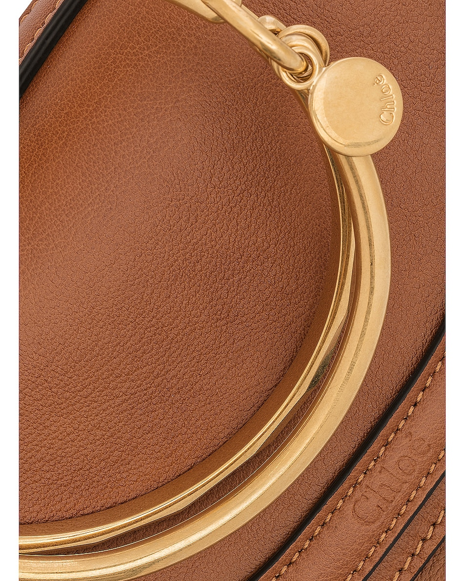 Image 8 of Chloe Small Nile Leather Minaudiere in Caramel