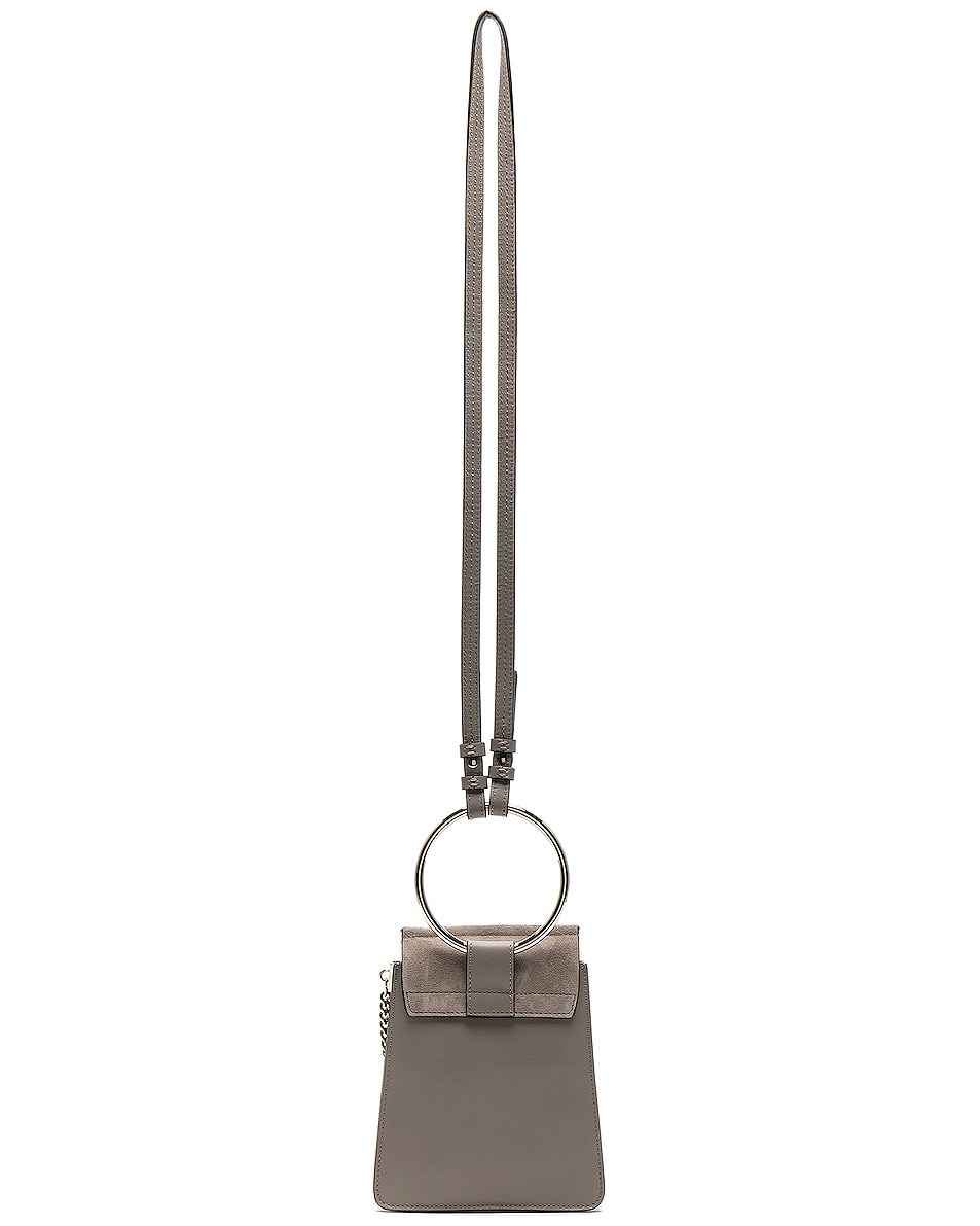 Image 3 of Chloe Small Faye Suede & Calfskin Bracelet Bag in Motty Grey