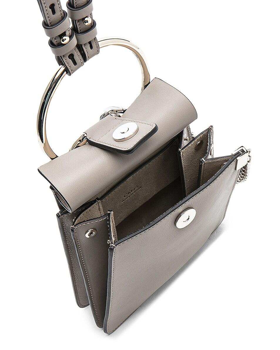 Image 5 of Chloe Small Faye Suede & Calfskin Bracelet Bag in Motty Grey
