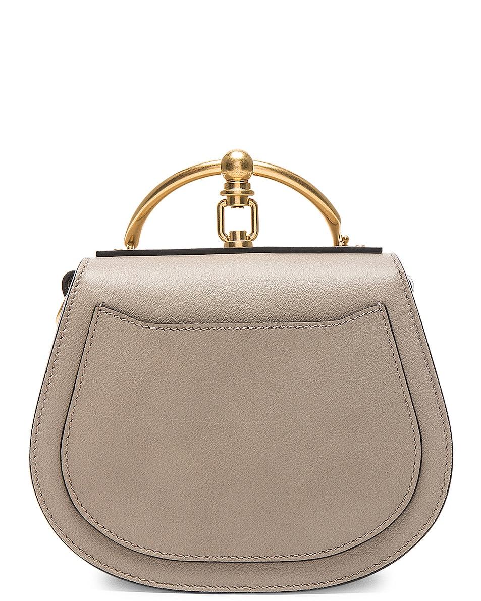Image 3 of Chloe Small Nile Bracelet Bag Calfskin & Suede in Motty Grey