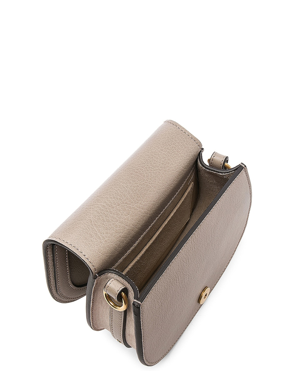 Image 5 of Chloe Small Nile Bracelet Bag Calfskin & Suede in Motty Grey