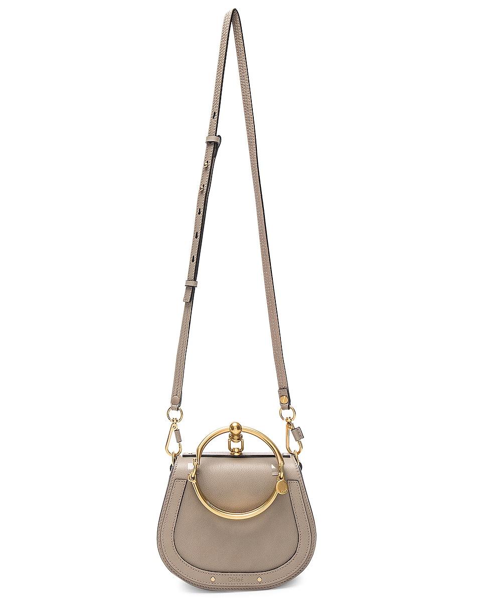 Image 6 of Chloe Small Nile Bracelet Bag Calfskin & Suede in Motty Grey