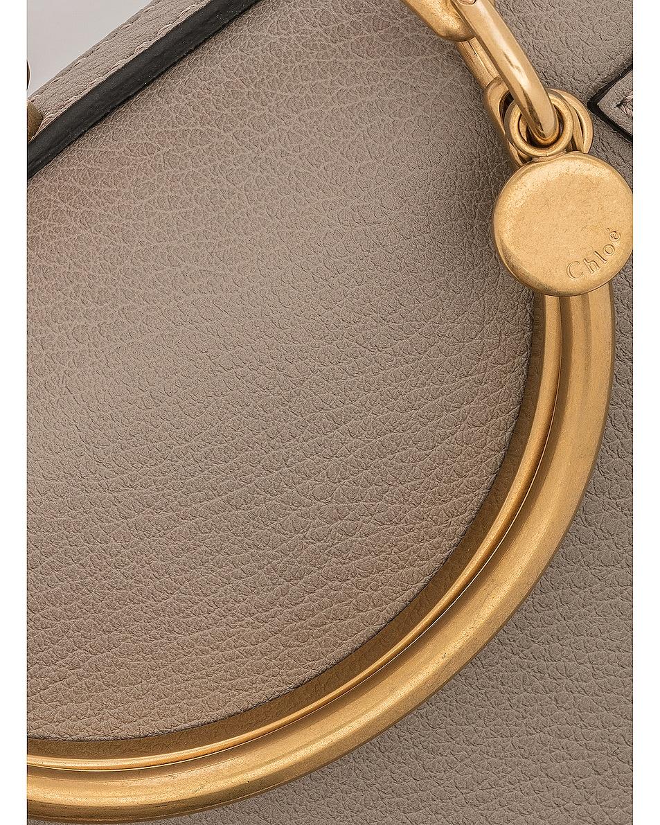 Image 8 of Chloe Small Nile Bracelet Bag Calfskin & Suede in Motty Grey