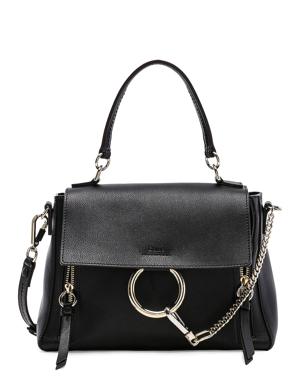 Image 1 of Chloe Small Faye Day Bag Calfskin & Suede in Black