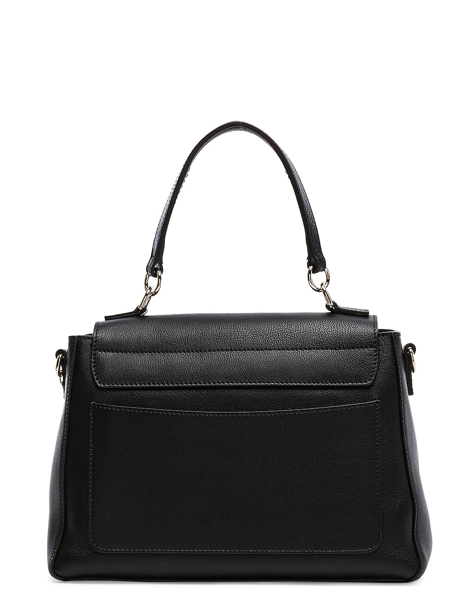 Image 3 of Chloe Small Faye Day Bag Calfskin & Suede in Black
