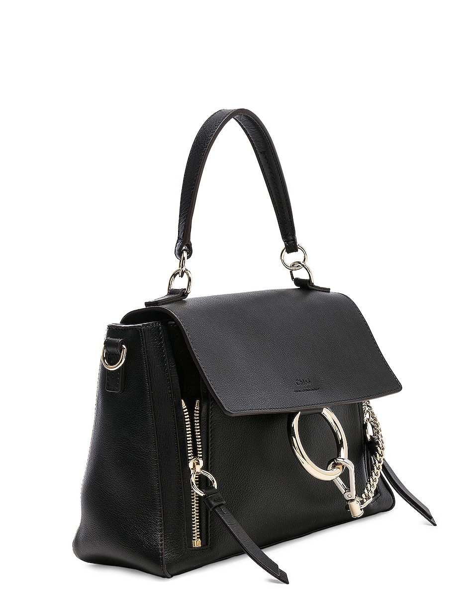 Image 4 of Chloe Small Faye Day Bag Calfskin & Suede in Black