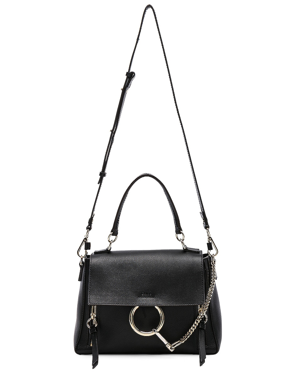 Image 6 of Chloe Small Faye Day Bag Calfskin & Suede in Black