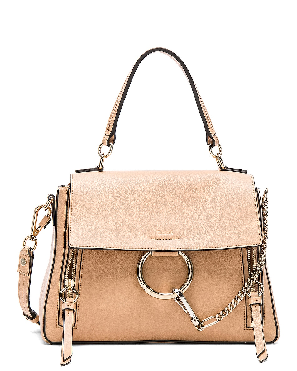 Image 1 of Chloe Small Faye Day Bag Calfskin & Suede in Blush Nude