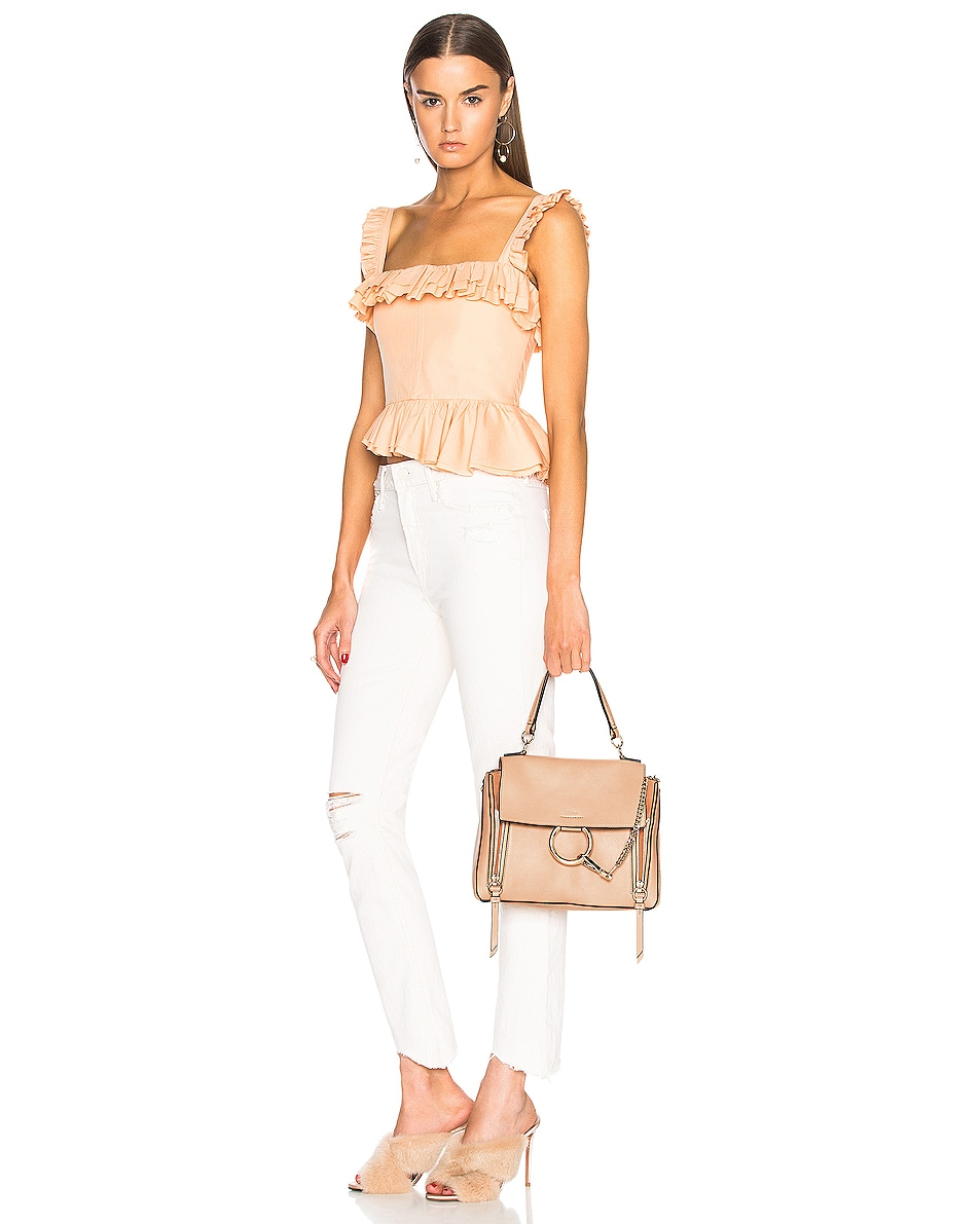 Image 2 of Chloe Small Faye Day Bag Calfskin & Suede in Blush Nude