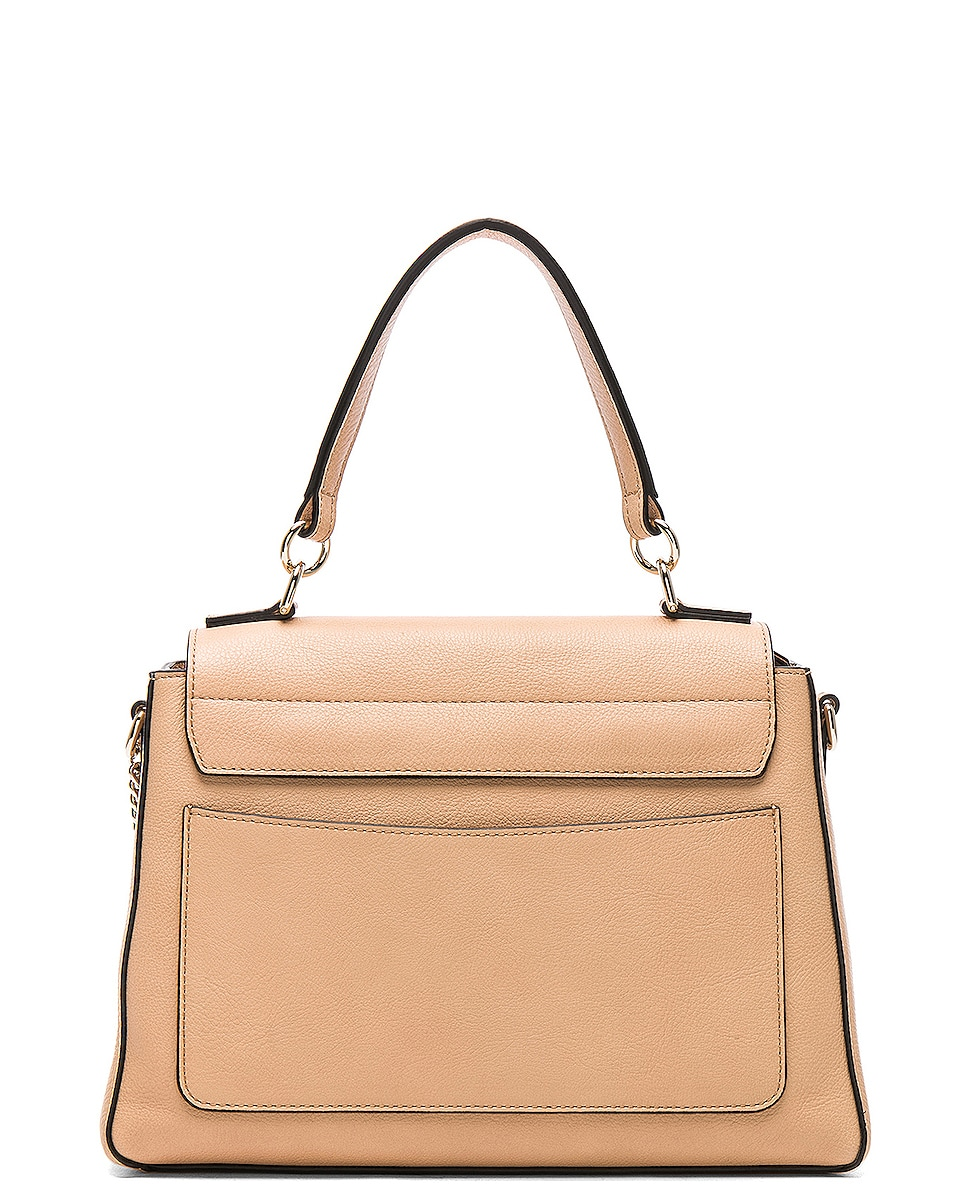 Image 3 of Chloe Small Faye Day Bag Calfskin & Suede in Blush Nude