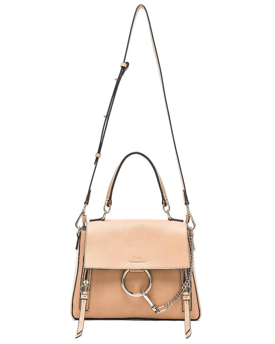 Image 6 of Chloe Small Faye Day Bag Calfskin & Suede in Blush Nude
