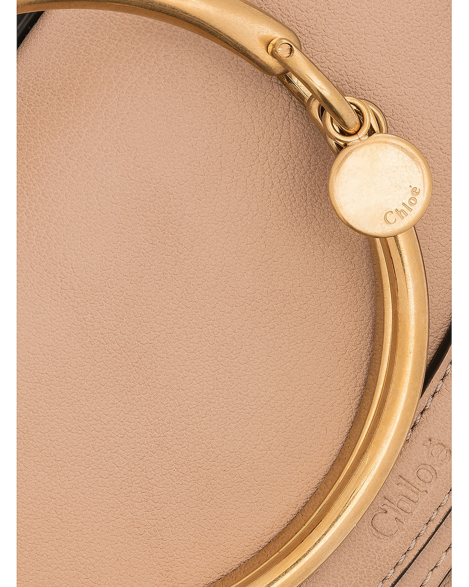 Image 8 of Chloe Small Nile Leather Minaudiere in Biscotti Beige
