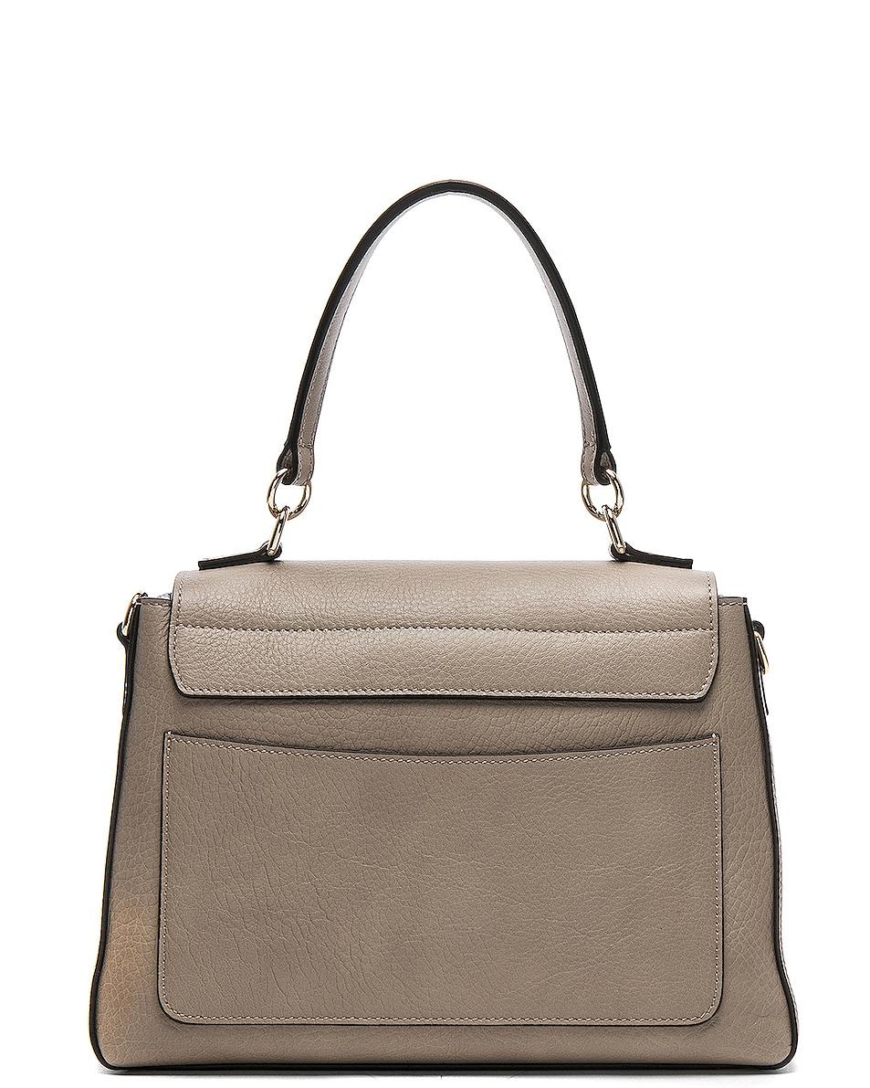 Image 3 of Chloe Small Faye Day Bag Calfskin & Suede in Motty Grey