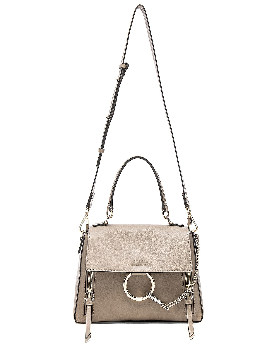 Image 6 of Chloe Small Faye Day Bag Calfskin & Suede in Motty Grey