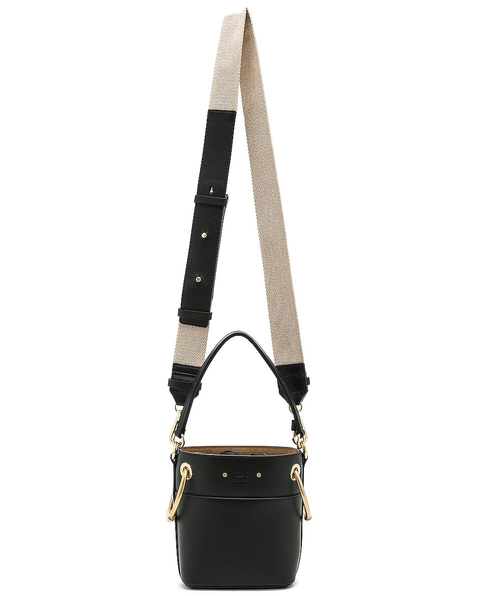 Image 6 of Chloe Mini Roy Calfskin Bucket Bag in Black